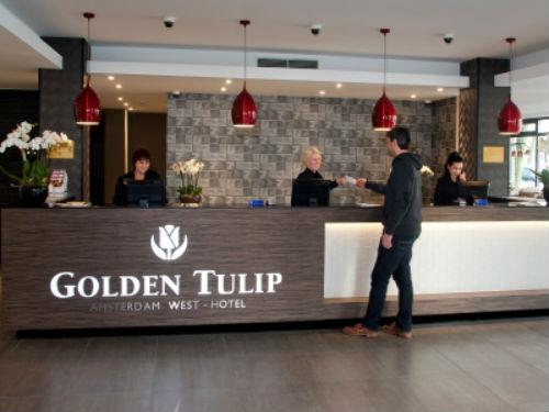 Golden tulip amsterdam west ロビー(C)MIKI TRAVEL