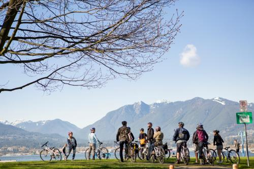*ノースショア マウンテン (C)Tourism Vancouver/Cycle City Tours